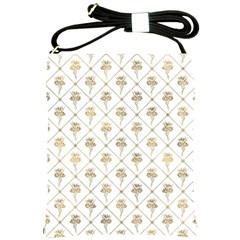 Flower Leaf Gold Shoulder Sling Bags