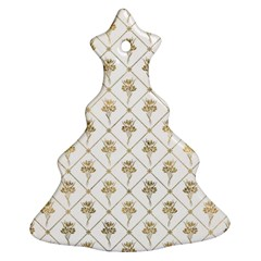 Flower Leaf Gold Ornament (christmas Tree)