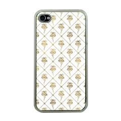Flower Leaf Gold Apple Iphone 4 Case (clear)