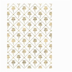 Flower Leaf Gold Small Garden Flag (two Sides)