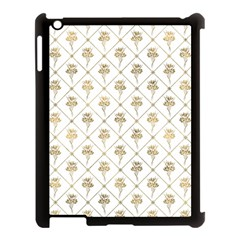 Flower Leaf Gold Apple Ipad 3/4 Case (black)