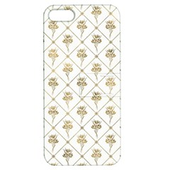 Flower Leaf Gold Apple Iphone 5 Hardshell Case With Stand