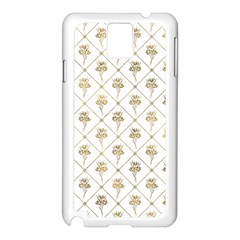 Flower Leaf Gold Samsung Galaxy Note 3 N9005 Case (white)