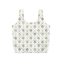 Flower Leaf Gold Full Print Recycle Bags (s)