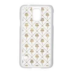 Flower Leaf Gold Samsung Galaxy S5 Case (white)