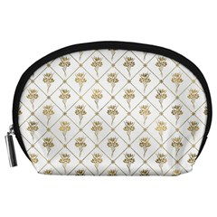 Flower Leaf Gold Accessory Pouches (large)