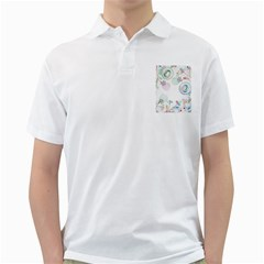 Flower Rainbow Circle Polka Leaf Sexy Golf Shirts