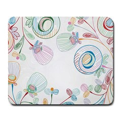 Flower Rainbow Circle Polka Leaf Sexy Large Mousepads