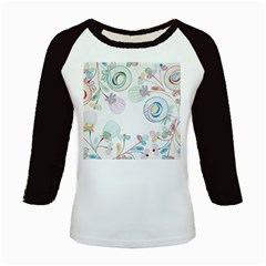 Flower Rainbow Circle Polka Leaf Sexy Kids Baseball Jerseys