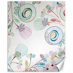 Flower Rainbow Circle Polka Leaf Sexy Canvas 16  X 20