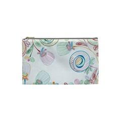 Flower Rainbow Circle Polka Leaf Sexy Cosmetic Bag (small)