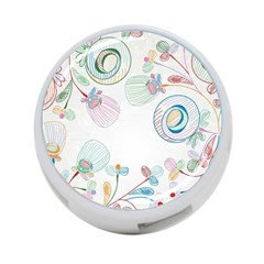 Flower Rainbow Circle Polka Leaf Sexy 4 Port Usb Hub (one Side)
