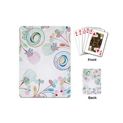 Flower Rainbow Circle Polka Leaf Sexy Playing Cards (mini)