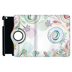 Flower Rainbow Circle Polka Leaf Sexy Apple Ipad 3/4 Flip 360 Case