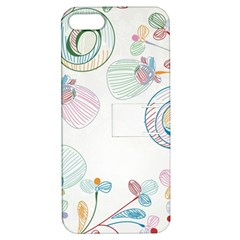 Flower Rainbow Circle Polka Leaf Sexy Apple Iphone 5 Hardshell Case With Stand
