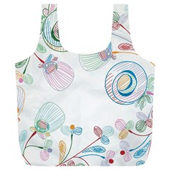 Flower Rainbow Circle Polka Leaf Sexy Full Print Recycle Bags (l)