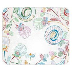 Flower Rainbow Circle Polka Leaf Sexy Double Sided Flano Blanket (small)