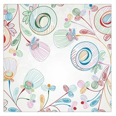 Flower Rainbow Circle Polka Leaf Sexy Large Satin Scarf (square)