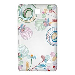 Flower Rainbow Circle Polka Leaf Sexy Samsung Galaxy Tab 4 (7 ) Hardshell Case