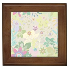 Flower Rainbow Star Floral Sexy Purple Green Yellow White Rose Framed Tiles