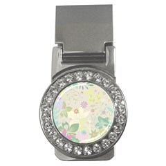 Flower Rainbow Star Floral Sexy Purple Green Yellow White Rose Money Clips (cz)