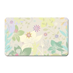 Flower Rainbow Star Floral Sexy Purple Green Yellow White Rose Magnet (rectangular)