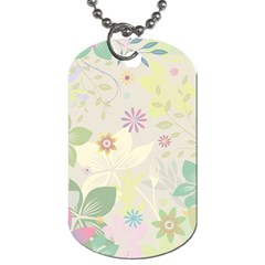 Flower Rainbow Star Floral Sexy Purple Green Yellow White Rose Dog Tag (two Sides)