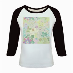Flower Rainbow Star Floral Sexy Purple Green Yellow White Rose Kids Baseball Jerseys