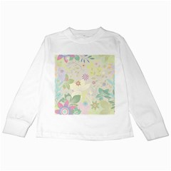 Flower Rainbow Star Floral Sexy Purple Green Yellow White Rose Kids Long Sleeve T Shirts