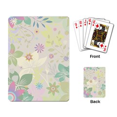 Flower Rainbow Star Floral Sexy Purple Green Yellow White Rose Playing Card