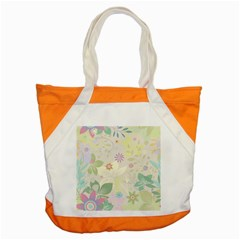 Flower Rainbow Star Floral Sexy Purple Green Yellow White Rose Accent Tote Bag