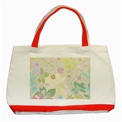 Flower Rainbow Star Floral Sexy Purple Green Yellow White Rose Classic Tote Bag (red)