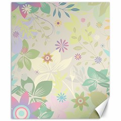 Flower Rainbow Star Floral Sexy Purple Green Yellow White Rose Canvas 8  X 10