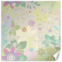 Flower Rainbow Star Floral Sexy Purple Green Yellow White Rose Canvas 12  X 12