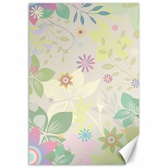 Flower Rainbow Star Floral Sexy Purple Green Yellow White Rose Canvas 12  X 18
