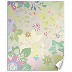 Flower Rainbow Star Floral Sexy Purple Green Yellow White Rose Canvas 16  X 20