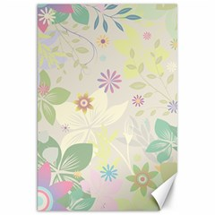 Flower Rainbow Star Floral Sexy Purple Green Yellow White Rose Canvas 20  X 30