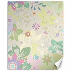 Flower Rainbow Star Floral Sexy Purple Green Yellow White Rose Canvas 11  X 14