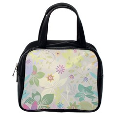 Flower Rainbow Star Floral Sexy Purple Green Yellow White Rose Classic Handbags (one Side)