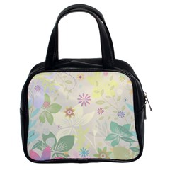 Flower Rainbow Star Floral Sexy Purple Green Yellow White Rose Classic Handbags (2 Sides)