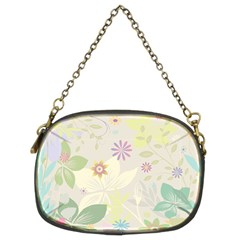 Flower Rainbow Star Floral Sexy Purple Green Yellow White Rose Chain Purses (two Sides)