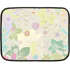 Flower Rainbow Star Floral Sexy Purple Green Yellow White Rose Double Sided Fleece Blanket (mini)