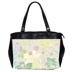 Flower Rainbow Star Floral Sexy Purple Green Yellow White Rose Office Handbags (2 Sides)