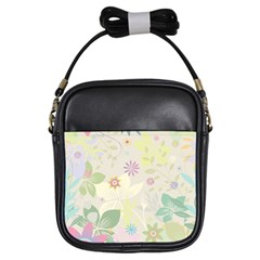 Flower Rainbow Star Floral Sexy Purple Green Yellow White Rose Girls Sling Bags
