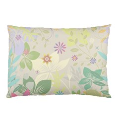 Flower Rainbow Star Floral Sexy Purple Green Yellow White Rose Pillow Case (two Sides)