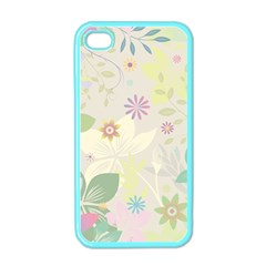 Flower Rainbow Star Floral Sexy Purple Green Yellow White Rose Apple Iphone 4 Case (color)