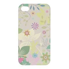 Flower Rainbow Star Floral Sexy Purple Green Yellow White Rose Apple Iphone 4/4s Premium Hardshell Case