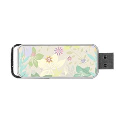 Flower Rainbow Star Floral Sexy Purple Green Yellow White Rose Portable Usb Flash (one Side)