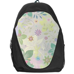Flower Rainbow Star Floral Sexy Purple Green Yellow White Rose Backpack Bag