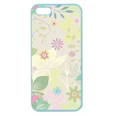 Flower Rainbow Star Floral Sexy Purple Green Yellow White Rose Apple Seamless Iphone 5 Case (color)